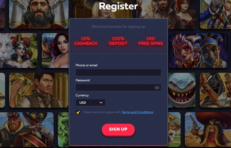 Registration at vavada com